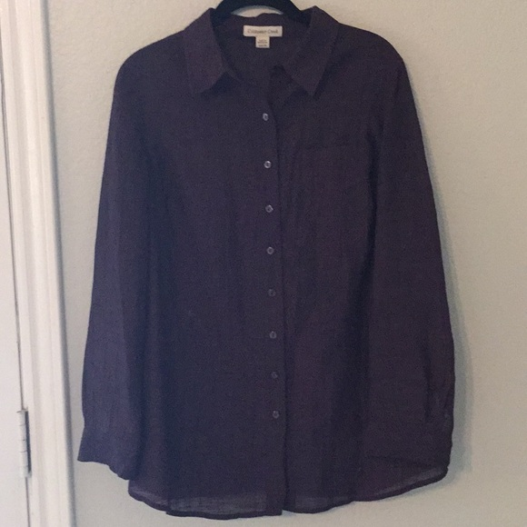 bab072df Coldwater Creek Tops | Plum Colored Button Down Blouse | Poshmark
